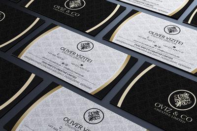 Макет визитки кафе или ресторана